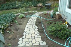 garden paths, walkway, garden idea, inexpens garden