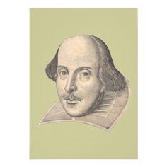 a William Shakespeare Invitation