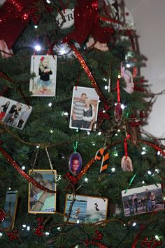 Photo ornaments Christmas tree