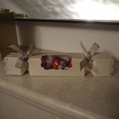 Envelope Punch Board Christmas Cracker/Treat Box, Stampin Up