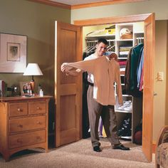 You can gain a ton of closet storage space by stealing a few feet from the end of your bedroom to build a wall-to-wall closet.