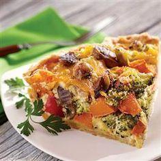 Vegetable Pie on Pinterest | Bacon Pie, Vegetable Tart and Albanian ...