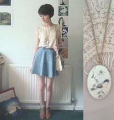 Lace Top, Topshop Skirt