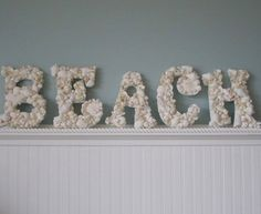 Beach in seashells