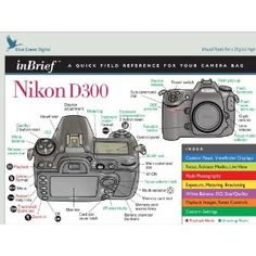 Nikon D300 inBrief Laminated Reference Card
