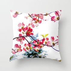 Flowers. Throw Pillow
