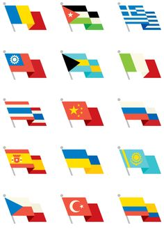 Illustration / World Flags, by Always With Honor