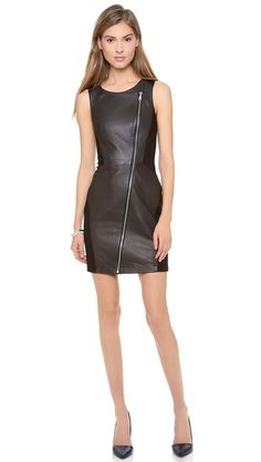 Rebecca Minkoff Moto dress: Leather for the holidays? Worth a try!