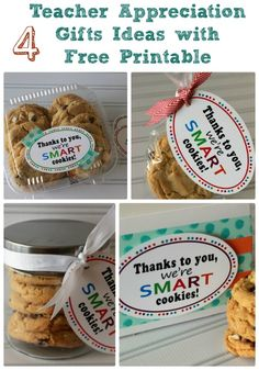 Teacher Appreciation Gift Ideas Smart Cookies   Teacher Gift Ideas with Free Printable