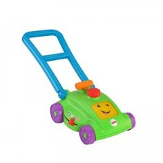 The Laugh & Learn Smart Stages Mower includes more than 30 sing-along songs that introduce babies and toddlers to numbers, actions, opposites, and more.