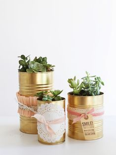 oh my little dears: The Golden Can DIY