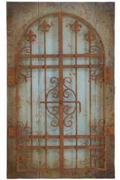 Rustic Gate Wall Decor  This Rusted Gate Is a Decorating Solution for a Large Wall