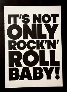 A little rock 'n' roll music, graphic design, rocknrol babi, little rock, poster, design art, roll babi, rolls, rocks
