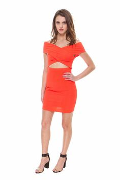 FOREIGN EXCHANGE | Cross My Heart Bodycon Dress - DRESSES