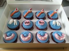 Dentist Themed Cupcakes by Ice Ice Maybe