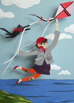 Flight by Kite  5x7 print by RoadsideProjects on Etsy, $15.00
