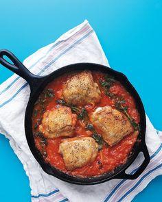 Chicken in Tomatoes - Martha Stewart Recipes.