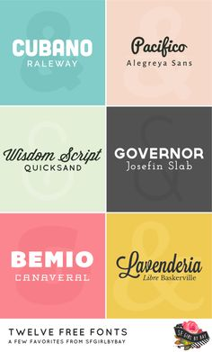 twelve free fonts / sfgirlbybay