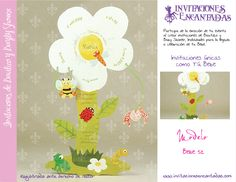 Invitacion con diseño de flor