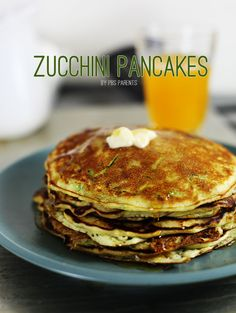 Zucchini Pancakes--Shredded zucchini adds vitamins and minerals to traditional pancakes without changing the flavor.