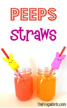Peeps Straws!  {and More Fun Peeps Creations!} ~ from TheFrugalGirls.com #easter #thefrugalgirls