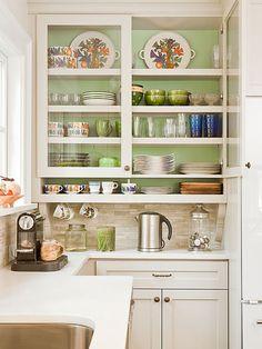 cabinet door color - Benjamin Moore Revere Pewter Paint (****) inside cabinet is Benjamin Moore Warm Springs
