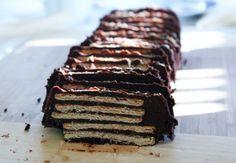 Tarta de galletas y chocolate, sin horno