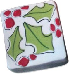 Kimberly Arden's holly cane as featured on Polymer Clay Daily.