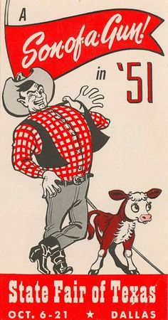 state fair of texas poster 1951