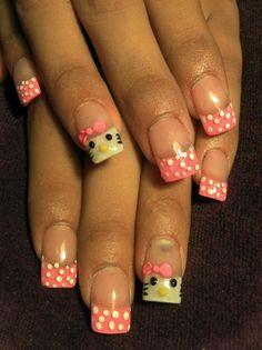 HELLO KITTY - Nail Art Gallery nailartgallery.nailsmag.com by NAILS Magazine nailsmag.com #nailart