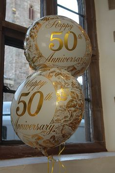 50th anniversary party balloons are a must