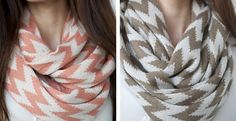 Bold Chevron Winter Knit Infinity Scarves - 4 Color Options! | Jane