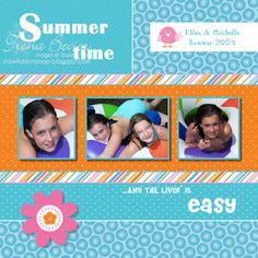 Snowflake Stamper: Summer Scrapbook Page