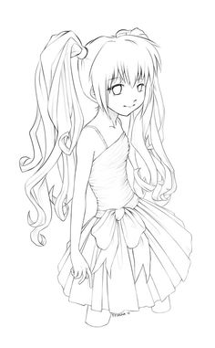 Nightcore Anime Coloring Pages