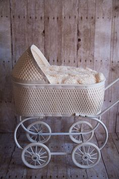 white baby buggy