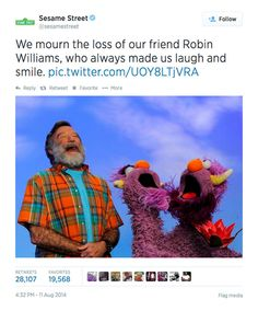 Robin Williams Sesame Street