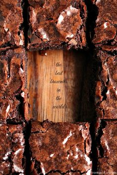 Claims to be… The Best Brownies in the World | Definitely worth a try :)