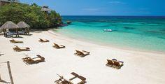 Riviera Seaside Beach at Sandals Grande Riviera in Ocho Rios, Jamaica
