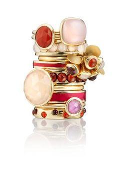 ashley clarke Gemstone Stackable Rings