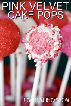 #Pink Velvet #Valentine Cake Pops by Love From The Oven #cakepops