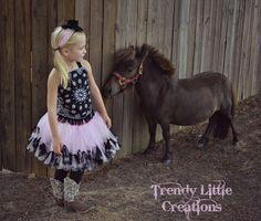 Cowgirl Costume  SEWN petti tutu set  by trendylittlecreation, $47.00