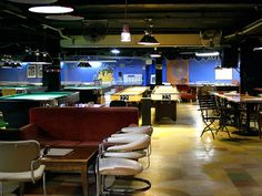 Places to check out: Fat Cat, pool and game hall -- GIANT TUMBLING TOWERS :)