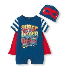 The perfect set for your super hero in training - complete with a cape! 15$