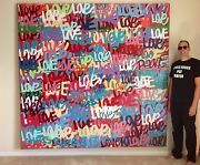 VALENTINES DAY GIANT HUGE LOVE POP PAINTING SIGNED ORIGINAL STREET ART MODERN NY