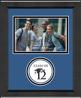 """Class Of Lasting Memories Photo Frames  - Showcase your favorite 4"""" x 6"""" horizontal photo with your class year set into acid-free matting. The frame is made with 100% recycled wood in your choice of our black Arena moulding or our mahogany Sierra moulding.  Start customizing today with your school colors for a spirited photo frame!"""