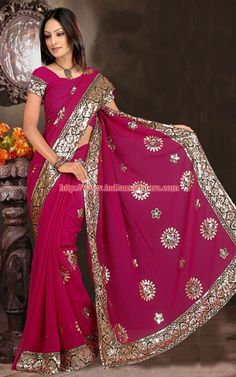 Gorgeous sari and the color is beautiful!