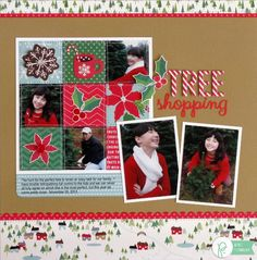 Christmas Layout by Mendi Yoshikawa using the #HomeForChristmas collection from @PebblesInc. @SnippetsByMendi