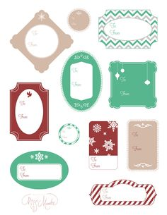 Designs By Miss Mandee: Holiday Gift Tags