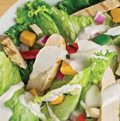 Having a salad as a meal is so easy - especially this Chicken Fajita Salad. Just marinate and grill the chicken, then chop it and toss with all those yummy veggies, some cheese and dressing.
