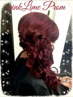Deep Deep Red Hair Color  Dark Brown Hairs
